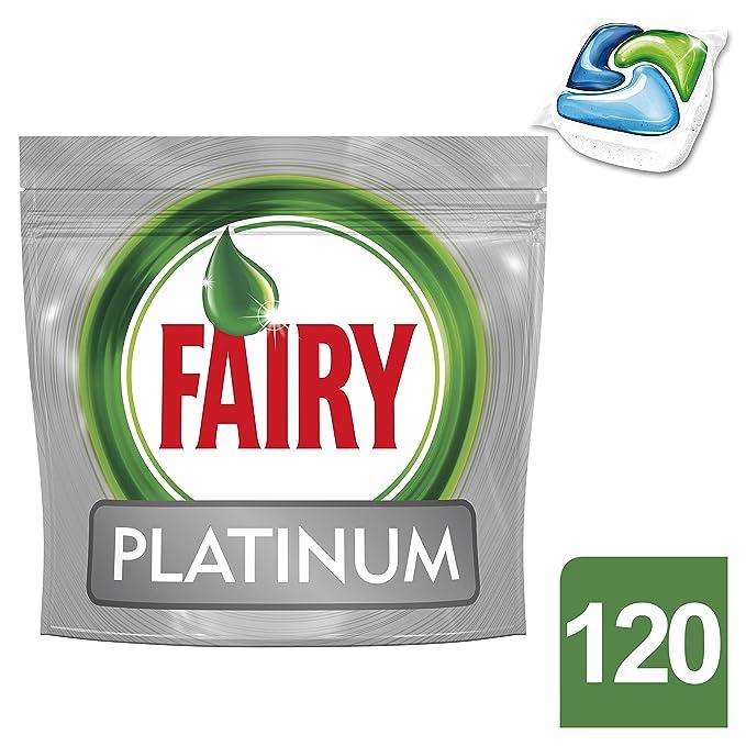 120 opinioni per Fairy Platinum Detersivo in Caps per Lavastoviglie, Confezione da 120 Pastiglie