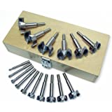 MLCS 9146 Forstner 16-Piece Bit Set in Wooden Box