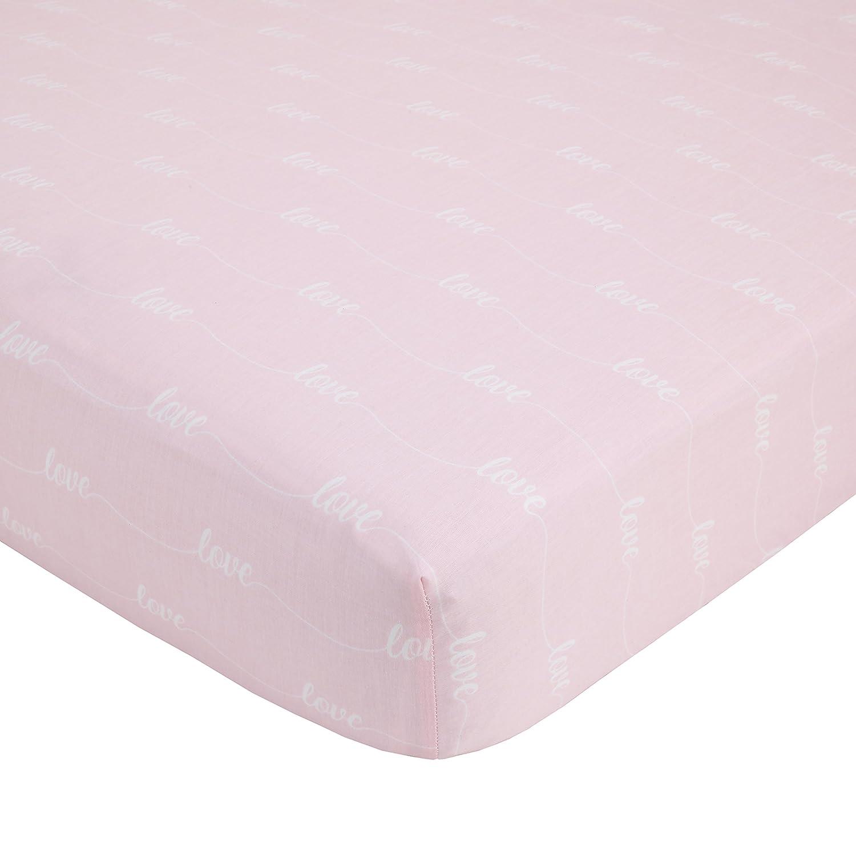 NoJo Dreamer Watercolor Floral 8 Piece Nursery Crib Bedding Set Rose//Pink//White