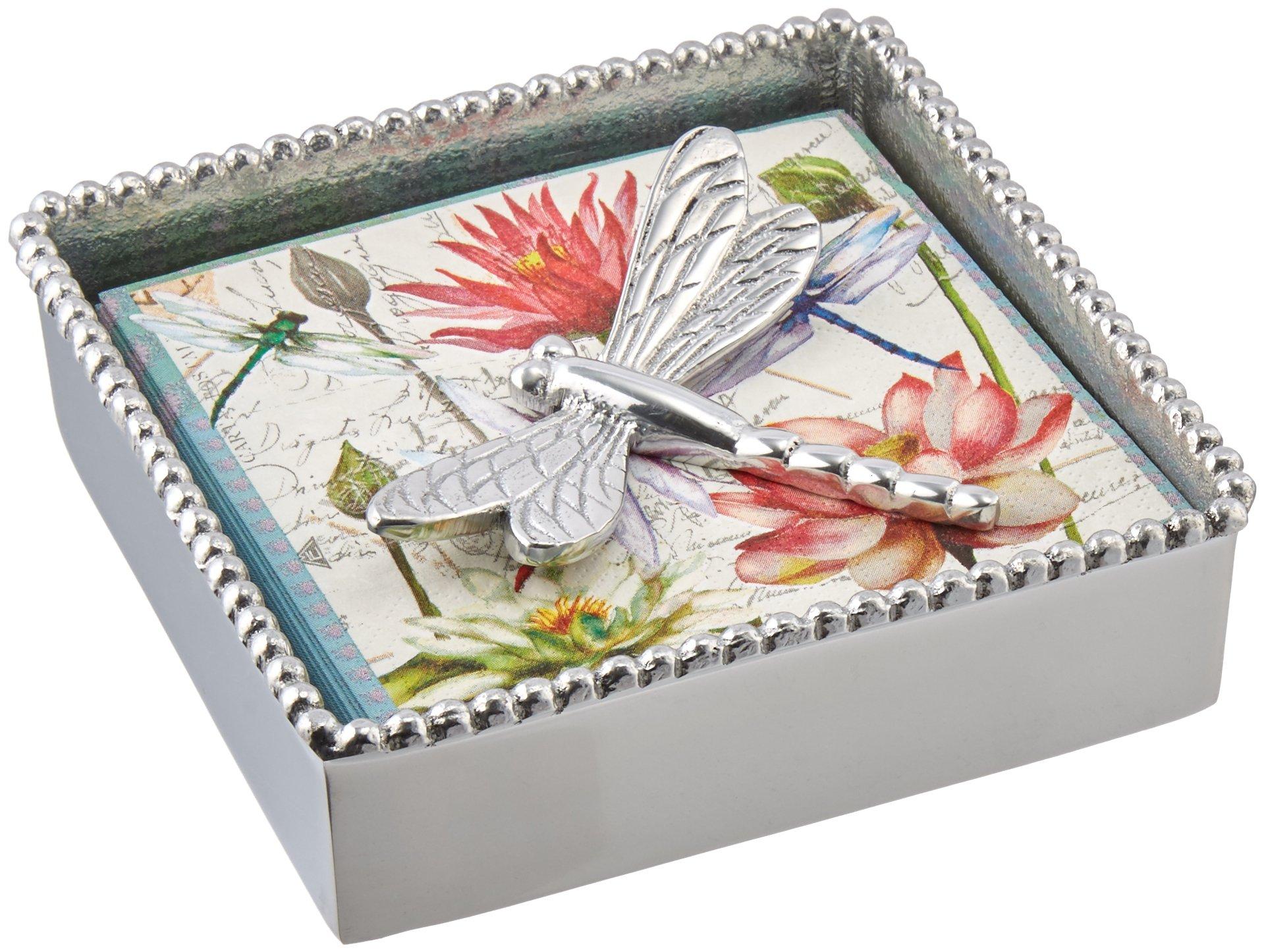 Mariposa Dragonfly Beaded Napkin Box by MARIPOSA