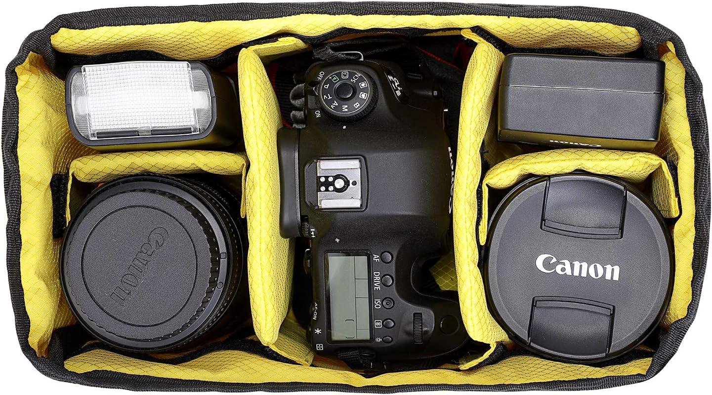 Camera Insert /étanche antichoc Partition rembourr/é Sac portables Sac /à dos pour Nikon Canon DSLR SLR Objectif Housse de protection In02/X A-MoDe.hk IN02X