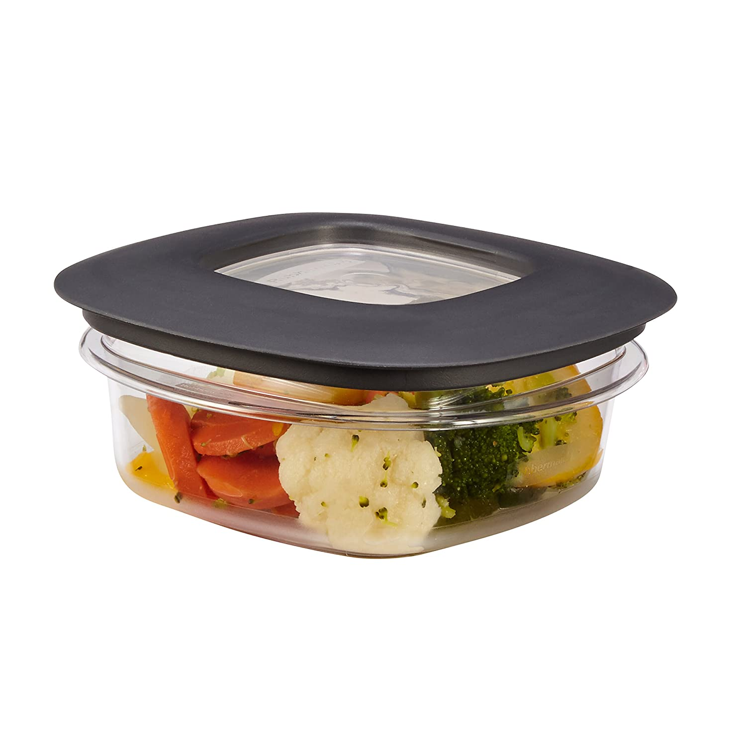 Rubbermaid Rubbermaid Premier Food Storage Container, 1.25 Cup, Grey, , Grey 1937646