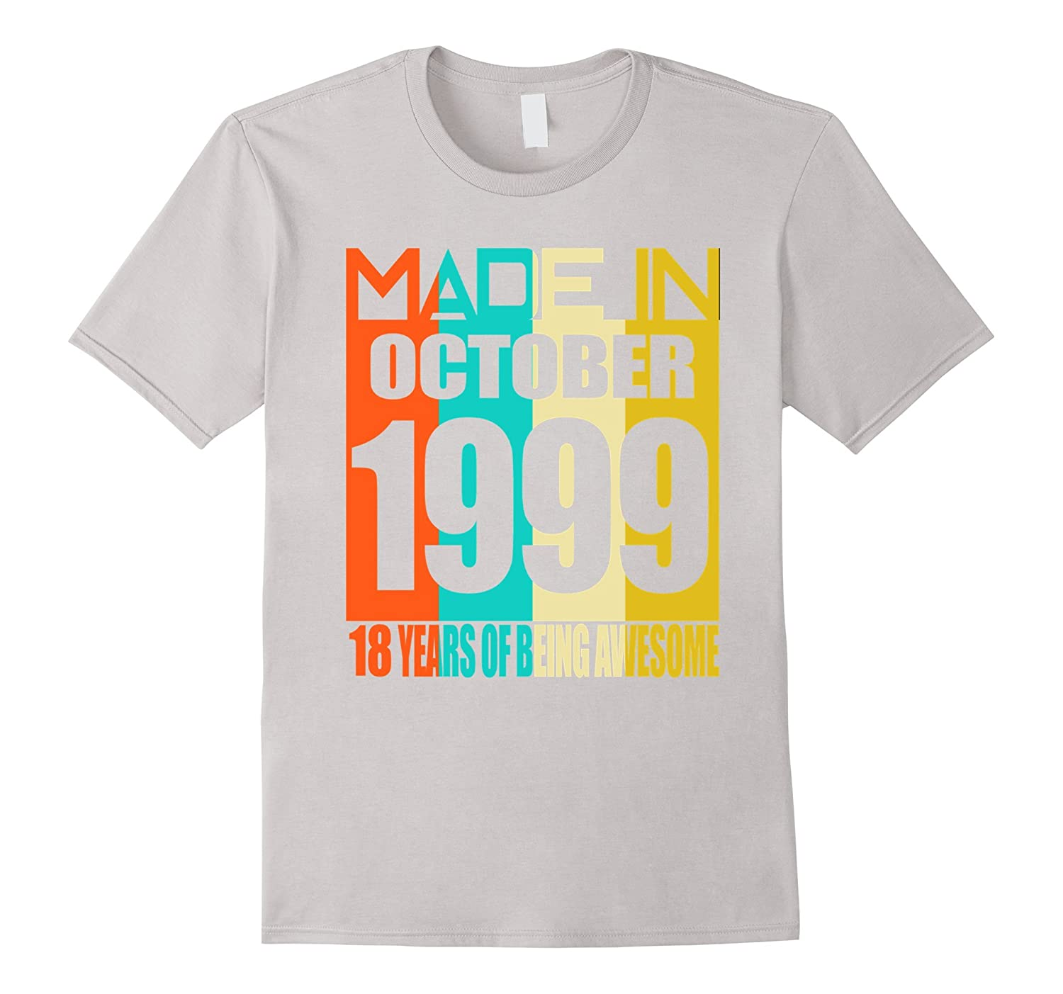 October 1999 18th Birthday Gifts 18 yrs old Bday T-shirt-TJ