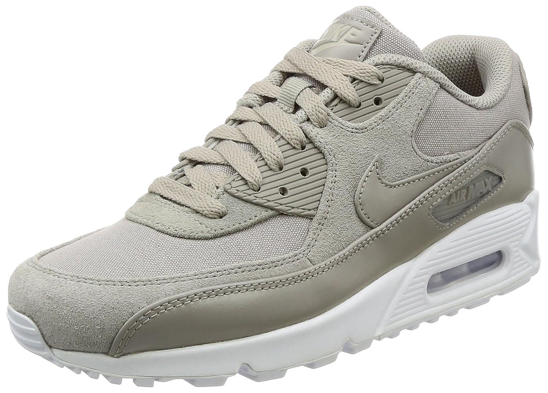 Nike Herren Air Max 90 Premium Sneaker, Grau  45.5 EU|Violett (Cobblestone/Cobblestone-white)
