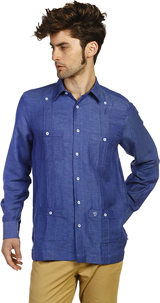 THE TIME OF BOCHA Camisa de Hombre Cubana JV1CUBANA-104 Talla XL: Amazon.es: Ropa y accesorios