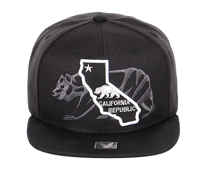 1211b86f1 RufnTop Cali Bear Snapback Hat, California Republic Beach Cap(Cali map)