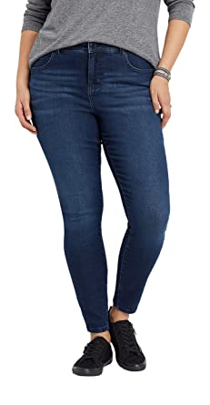 e298f8ab3 maurices Women's Everflex Skinny Jeans - Plus Size Dark Rinse High Rise