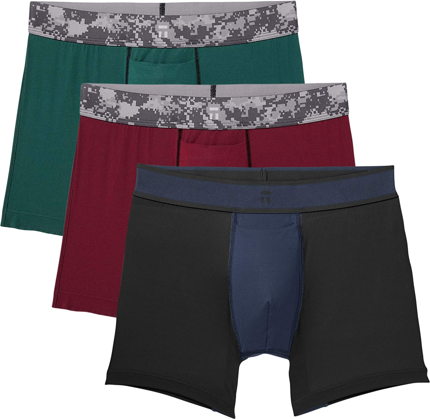 3 Pack Tommy John Mens Air Camo Trunks Comfortable Breathable Soft Underwear for Men