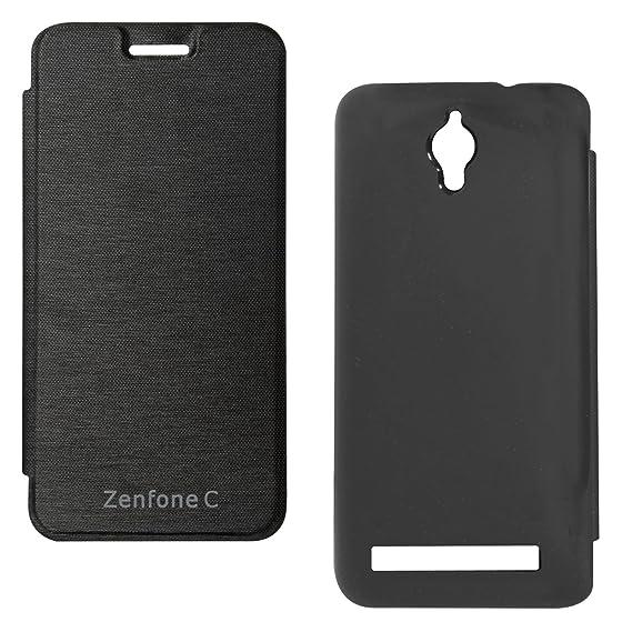 DMG PU Leather Flip Cover Case For Asus Zenfone C ZC451CG Black