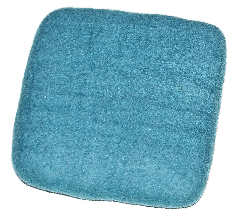 "100% Woolen Needle Fetling Mat | Eco-Friendly Natural Wool Needle Felting (6"" x 6"", Blue) 81IR9WroE9L"