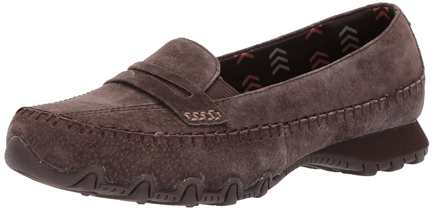 Chocolate Skechers Womens Bikers - Penny Lane Penny Loafer