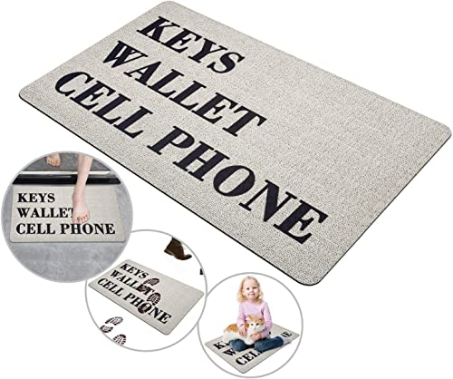 Shangjie Town Funny Welcome Mat Entrance Door Mats for Indoor Outdoor Mats Areas Shoe Rugs 17.7in29.5in, Key Wallet
