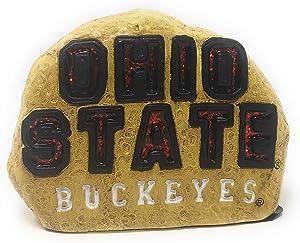 Hanna's Handiworks NCAA Ohio State Buckeyes Team Red Logo Faux Rock Lawn Decor Garden Stone One Size