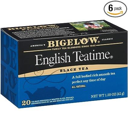 Bigelow Bolsas de té tradicionales y con sabor negro: Amazon ...