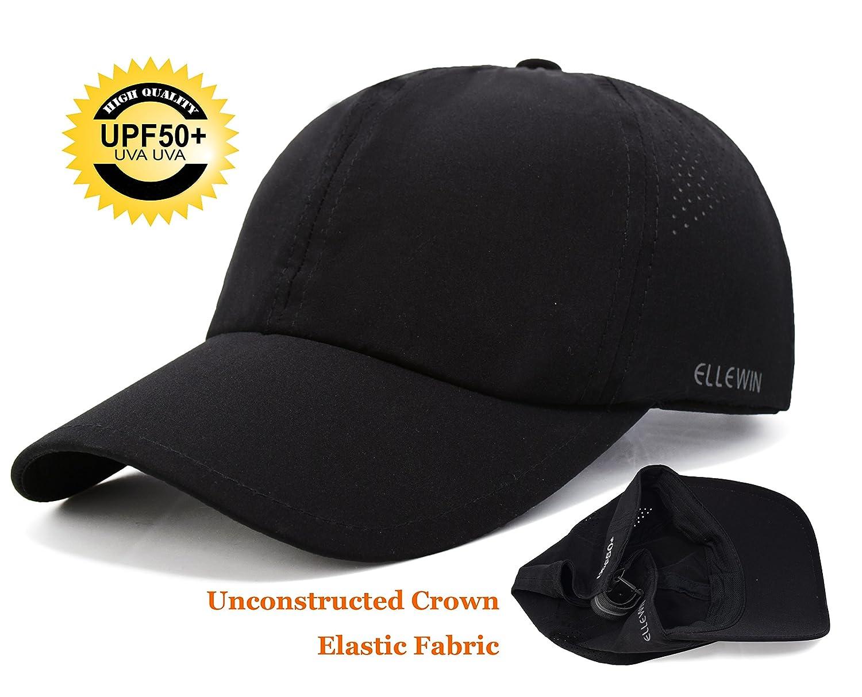 47e9e0e000d Ellewin classic plain baseball cap upf unstructured hat for men and women  clothing jpg 1500x1213 Uva