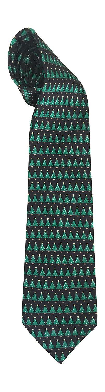 Christmas Tie 100/% Silk Xmas Trees Christmas Tree Holiday Green 402