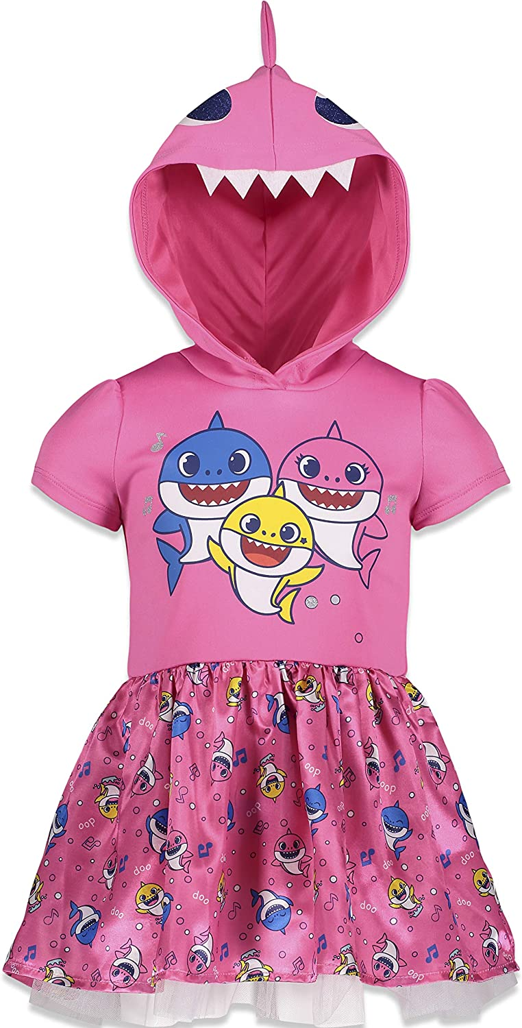 Pinkfong Baby Shark Hooded Costume Short Sleeve Dress