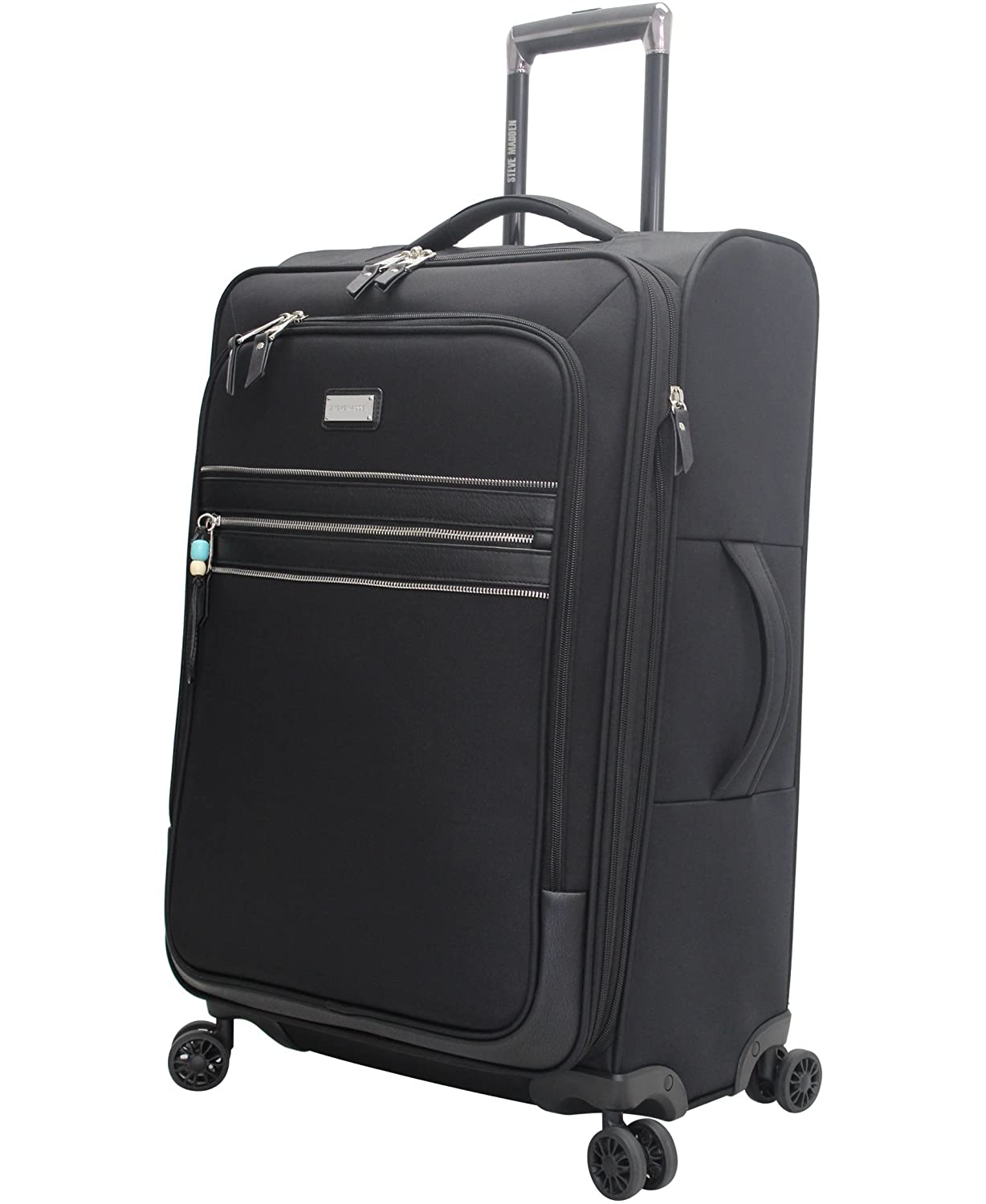 Image of Luggage Steve Madden Large Patchwork Expandable Luggage With Spinner Wheels