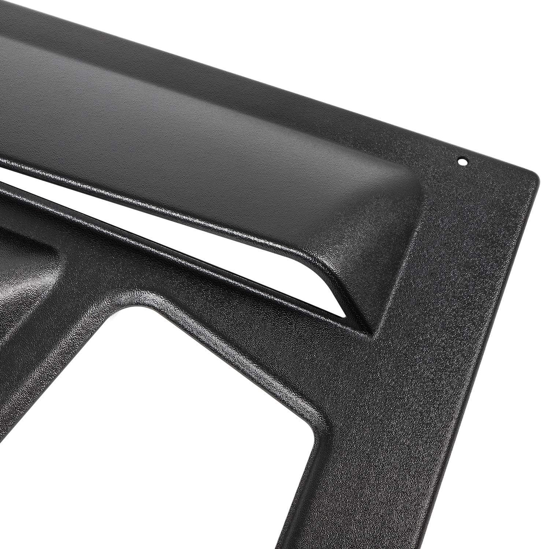 Quarter Side Window Louvers for Ford Mustang 2005-2014 Matte Black ABS Window Visor Cover Sun Rain Shade Vent(2PCS)