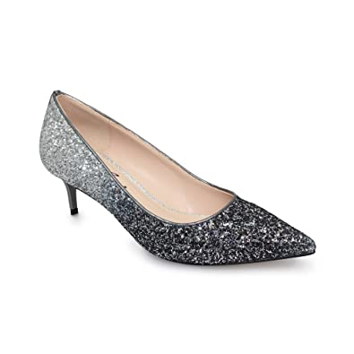 200c4968c6 Lunar Women's Dash Glitter Court Shoe with Low Heel in Grey & Pewter Two  Tone UK