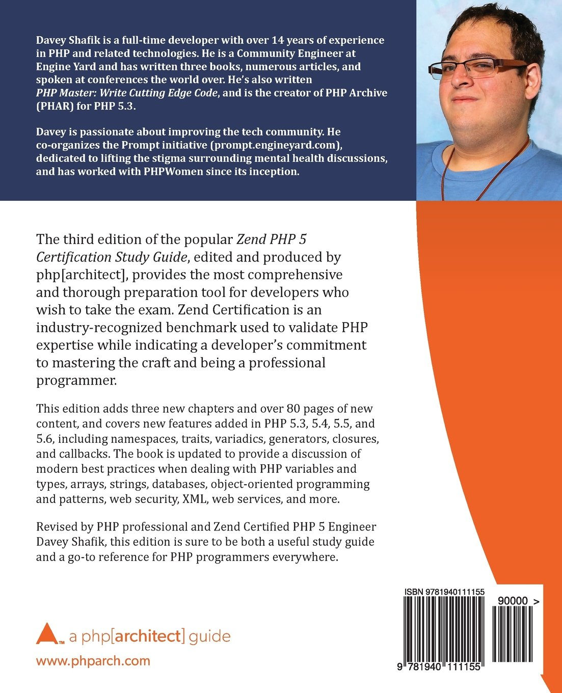 Zend php 5 certification study guide a phparchitect guide zend php 5 certification study guide a phparchitect guide davey shafik ben ramsey oscar merida eli white kevin bruce 9781940111155 amazon 1betcityfo Choice Image