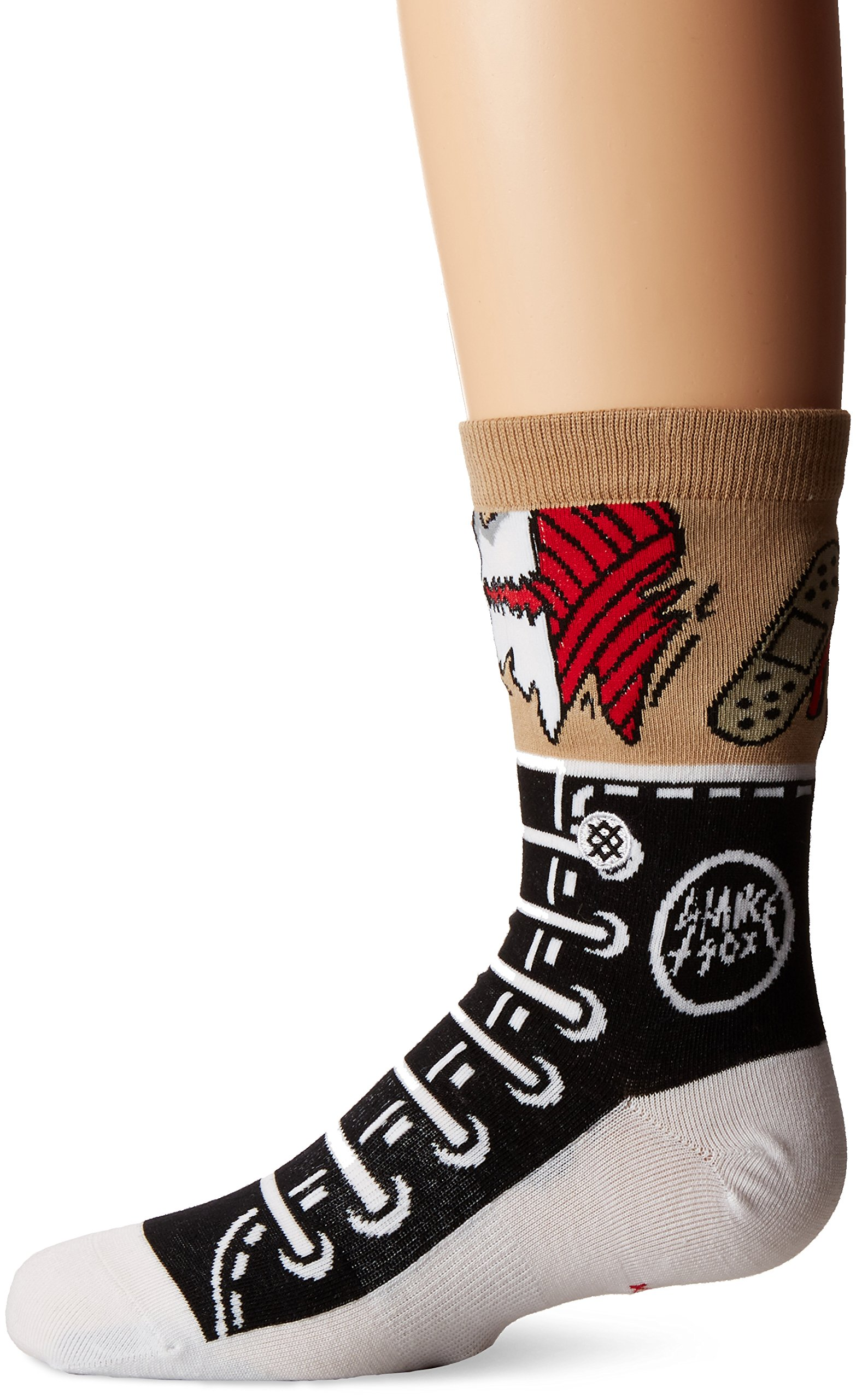 Stance Little Boys' Dragger Graphic Sneaker Reinforced Toe and Arch Support Crew Sock, Black, M