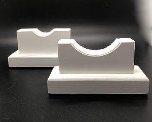 Baseball Bat Display Stand for Desk or Mantel - Solid Maple w/Felt Liner Handmade in USA - Desktop Holder to Mount Bat Horizontal - Better Than Display Case | Fits Any Bat
