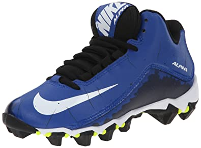86d70a655345 Nike Men's Alpha Shark 2 Three-Quarter Football Cleat Sport  Royal/Black/White