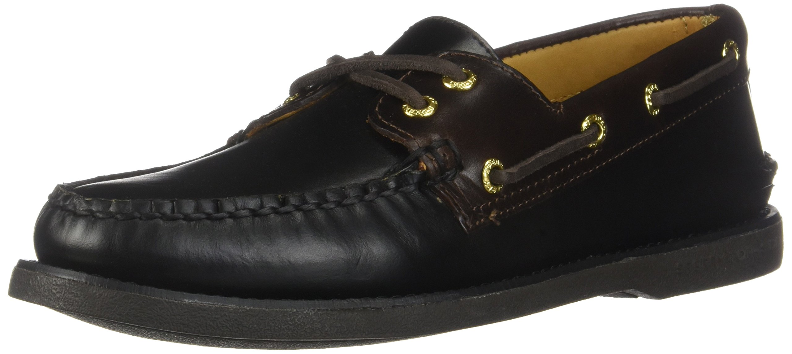 Sperry STS12955: Men's Gold A/O 2-Eye Leather Loafers (8 D(M) US Men, Black/Amaretto)