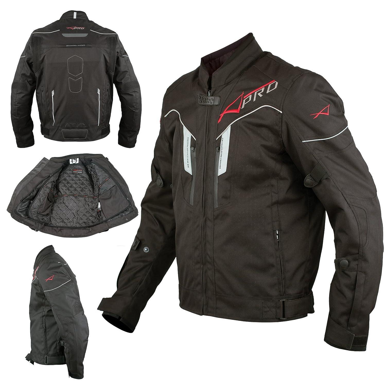 A-Pro Textil Motorrad Jacke Wasserdichte CE Protektoren Reflektirende Grau L
