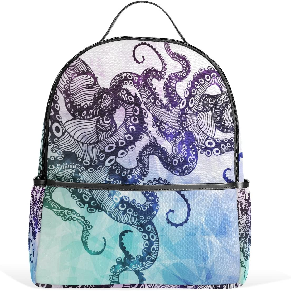 Use4 Abstract Octopus Hipster Polyester Backpack School Travel Bag