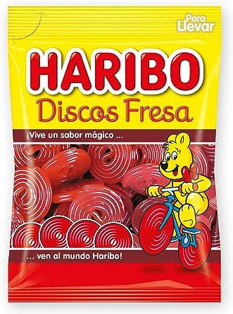 Haribo - Discos Fresa - Geles Dulces - 80 g - , Pack de 6: Amazon ...