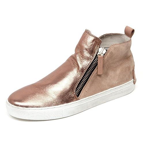 D0988 sneaker alta donna CRIME LONDON scarpa rosa rosa rosa laminato scarpe   f8e223