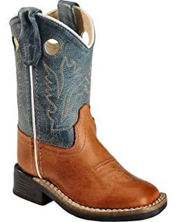 449d979bb22 Amazon.com | Old West Toddler-Boys' Stitched Olive Cowboy Boot ...