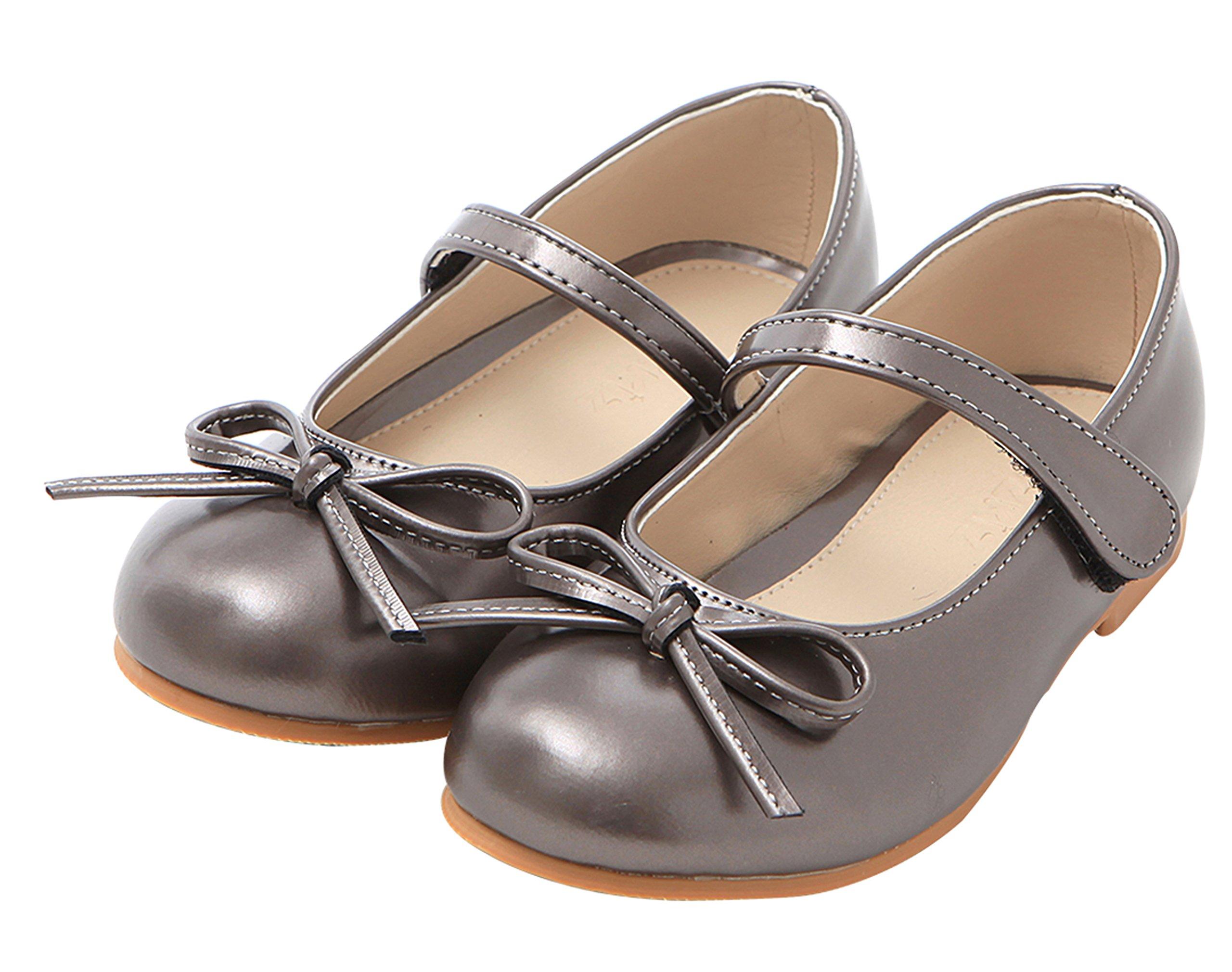 Ozkiz Little Girls Dress Mary Jane Flats Shoes Gy 1M