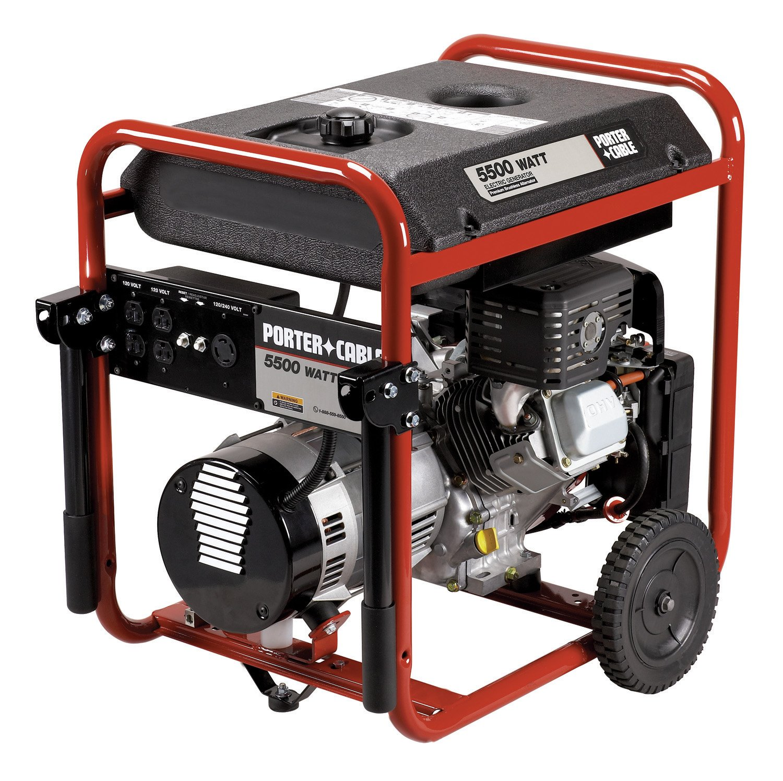 Amazon Porter Cable 5 500 Watt Portable Generator BSV550 W