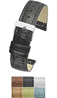Genuine Leather watch band in Alligator grain finish - Sizes 12,14,16,