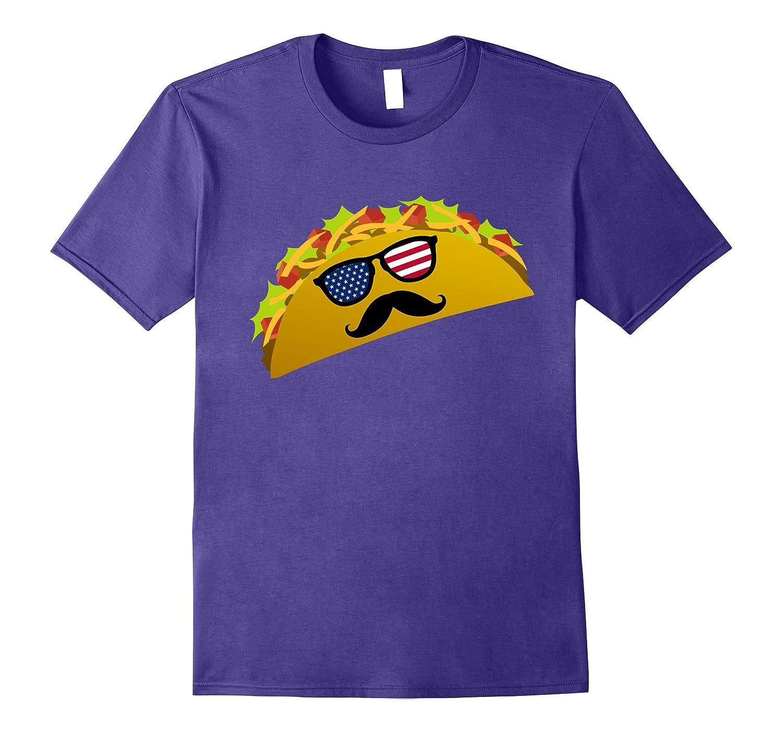 Funny Patriotic Taco Sunglasses T Shirt for July 4th Picnics-PL
