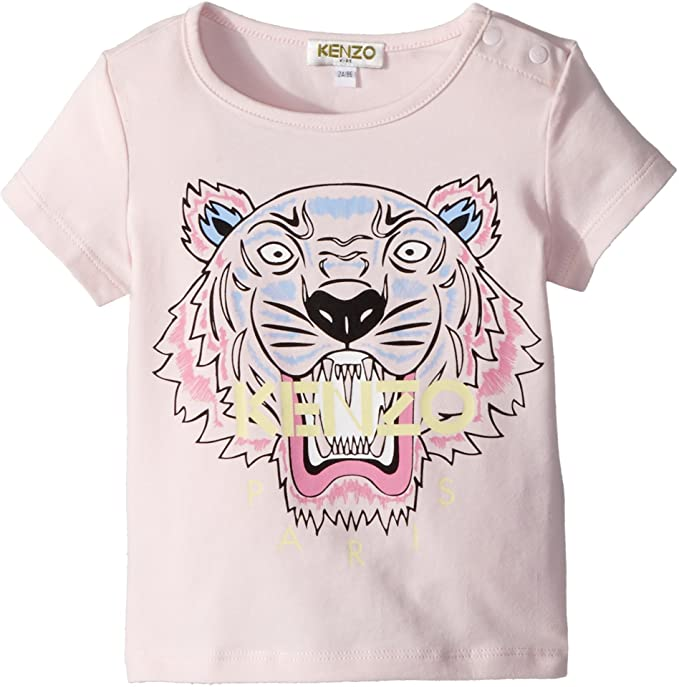 93507086 Kenzo Kids Baby Girl's Tee Shirt Classic Tiger (Toddler) Sweet Pink 2A (2