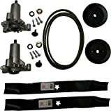 Craftsman Deck Rebuild Kit With Heavy Duty Spindles, 2 Heavy Duty Spindles (130794), 2 Blades (134149), 2 Pulleys (173436), Deck Belt (for 144959) Craftsman Poulan Husqvarna