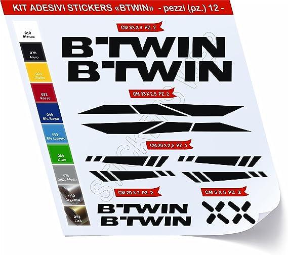 Pegatinas Bicicleta compatible BTWIN _ Kit 2 _ Kit Pegatinas ...