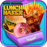 High School Lunch - Kids Breakfast and Lunch Maker Games FREE