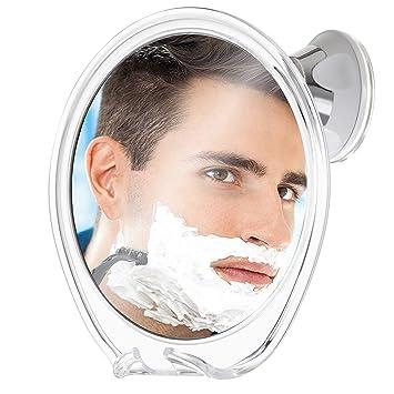 Fogless Shower Mirror Bathroom Travel Make Up Shaving Mirror With Adhesive Hook