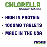 Now Chlorella Tablets,1000mg, 200 Count (Pack of 2) - Premium, Non-GMO Microalgae - Green Superfood Supplement