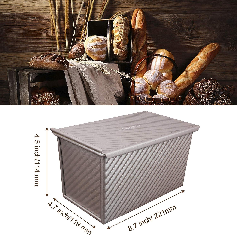 MyLifeUNIT Molde antiadherente para hogaza de pan tostado, molde ...