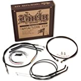 "Burly B30-1005 Cable/Brake Line Kit for 16"" Height Apehanger Handlebars"