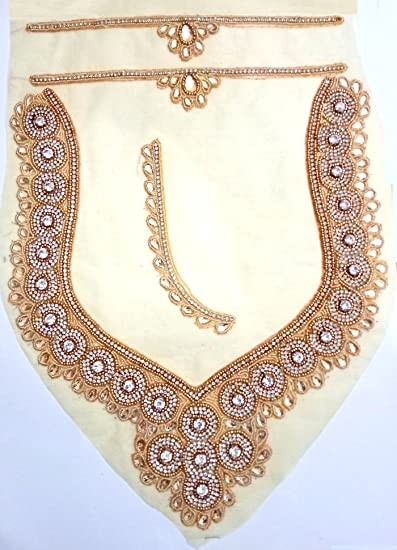 Buy Stone Lace Spot Design Gold Blouse Patch Blouse Back Neck Design Patch Lace Designer Gold Color With At Amazon In,Latest Mangalsutra Designs Only Gold With Price