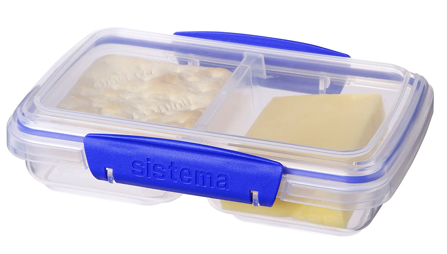 Amazon.com: Sistema Klip It Collection Small Split Food Storage Containers,  1.5 Cup Each, Set Of 3: Kitchen U0026 Dining