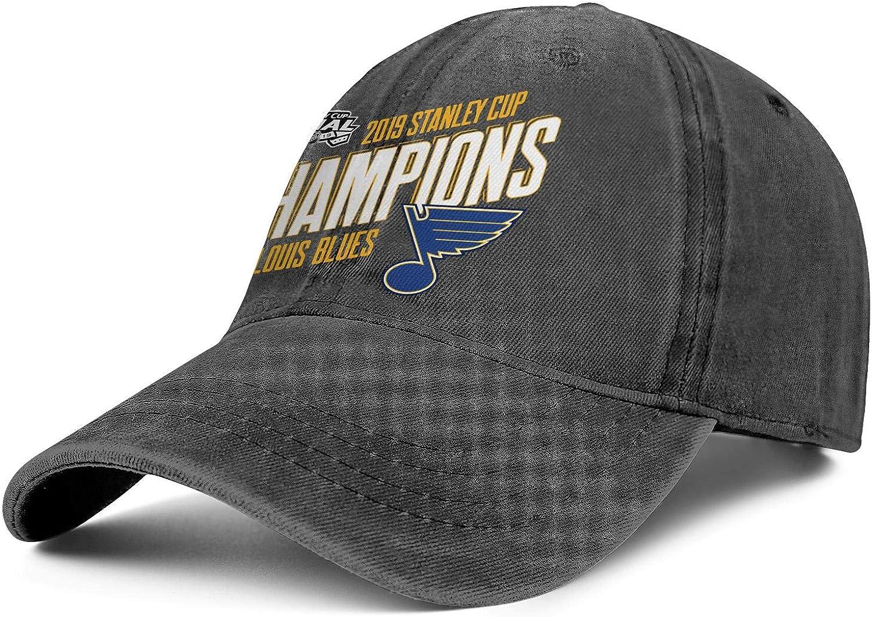 Unisex Men Woman Caps Denim 2019 Ice Hockey Champions Classic Workout Cap Hat