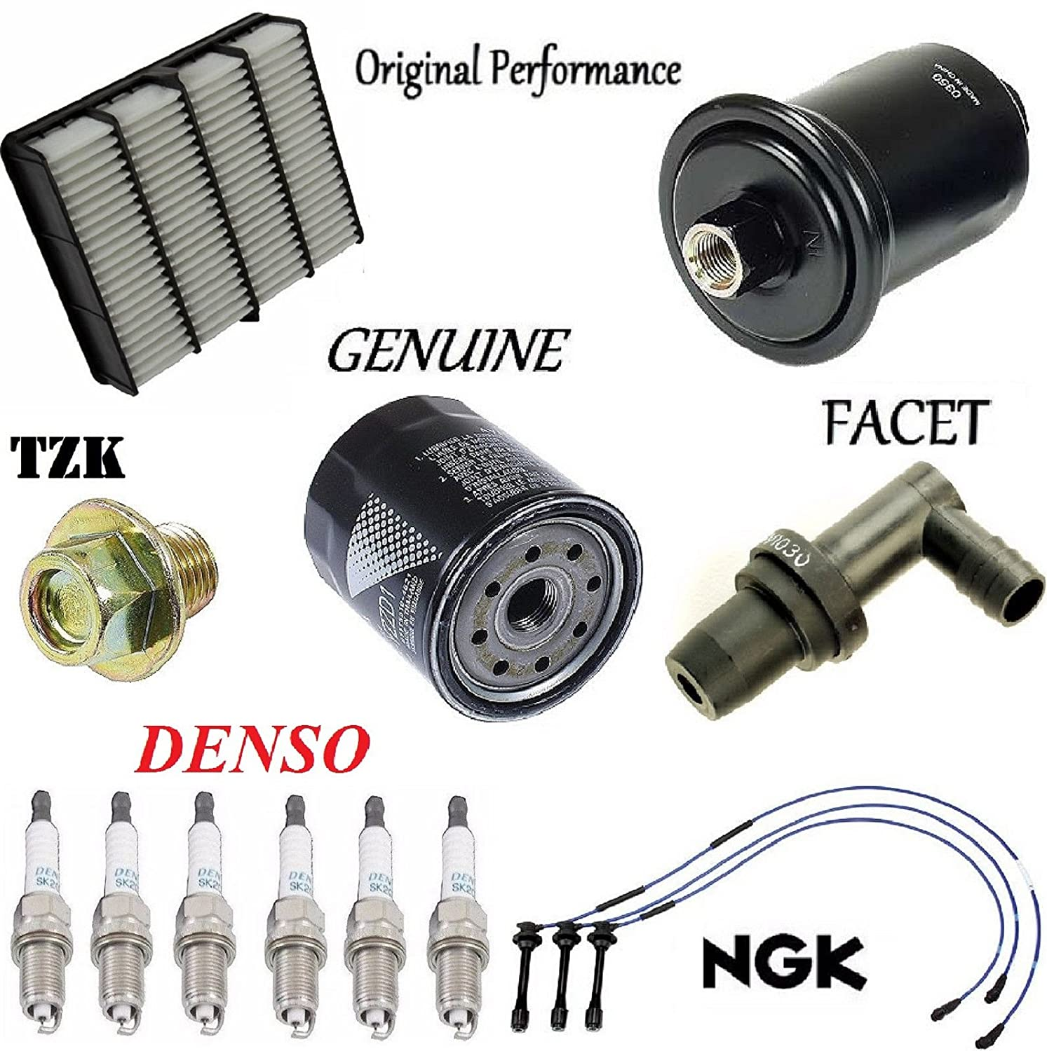 Tune Up Kit Air Oil Fuel Filters Plugs Wire for Toyota 4Runner 3.4L 1995-2004 8USAUTO